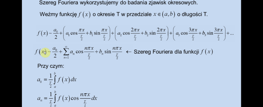 Lekcja 10 – Szeregi Fouriera