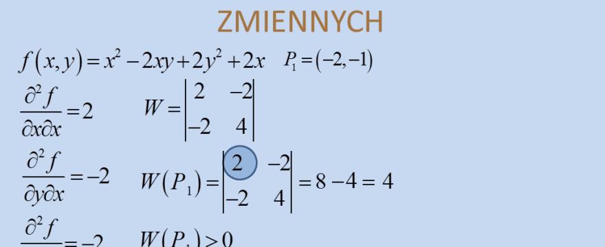 Lekcja 2 – Ekstremum (lokalne) funkcji wielu zmiennych