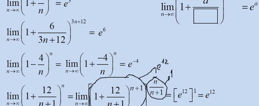 Lekcja 3 – Granice z wzorem na liczbę e