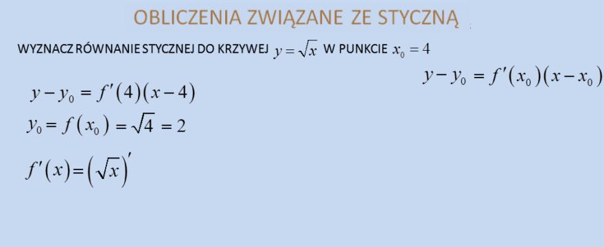 Lekcja 3 – Obliczanie przybliżonych wartości wyrażeń. Obliczanie stycznej i normalnej do krzywej.
