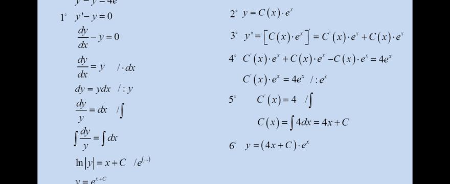 Lekcja 3 – Równania liniowe I-go rzędu
