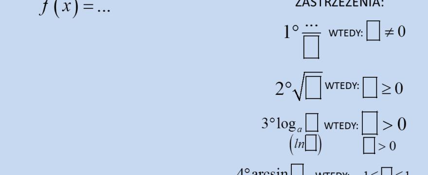Lekcja 5 – Dziedzina funkcji