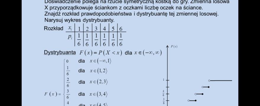 """Lekcja 5 – Zmienne losowe dyskretne (""""skokowe"""")"""