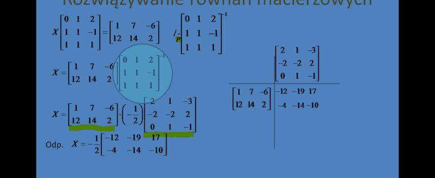 Lekcja 4 – Równania macierzowe