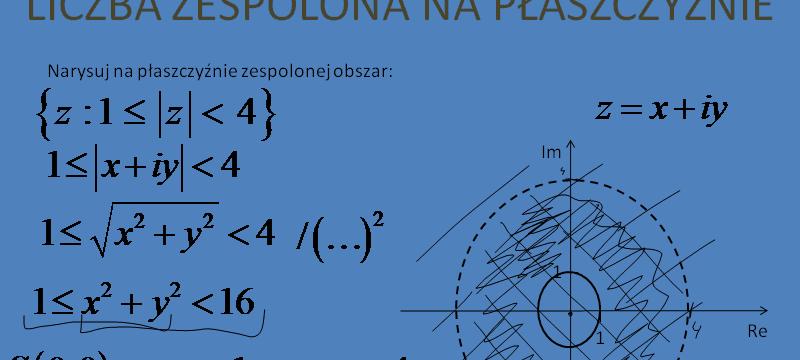 Lekcja 7 – Liczby zespolone na płaszczyźnie