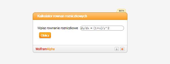 Kalkulator do równań różniczkowych