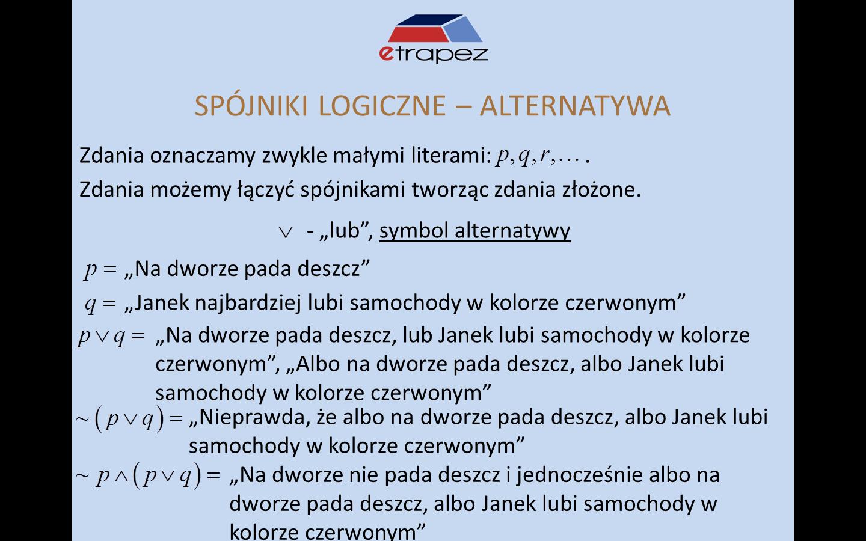 Lekcja 8 – Wprowadzenie do logiki