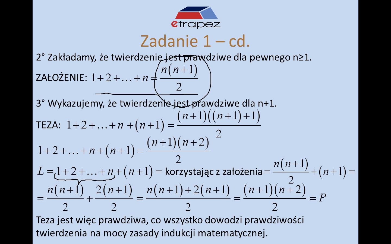 Lekcja 19 – Indukcja matematyczna