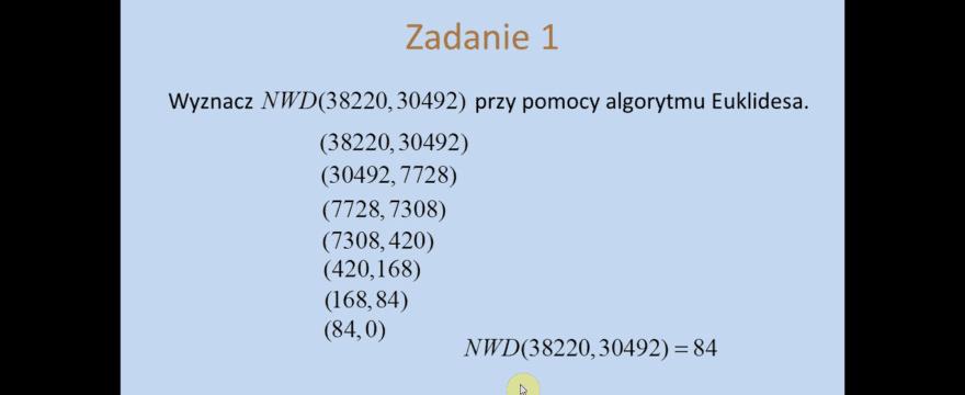 Lekcja 27 – Algorytm Euklidesa