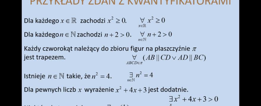 Lekcja 29 – Kwantyfikatory