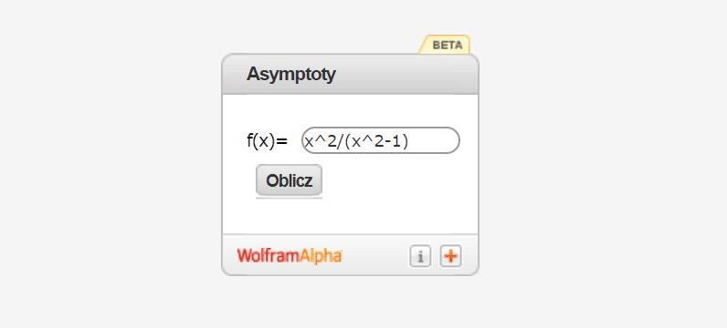 Kalkulator do asymptot