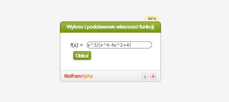 Kalkulator do wykresu i podstawowych własności funkcji (badanie zmienności funkcji)