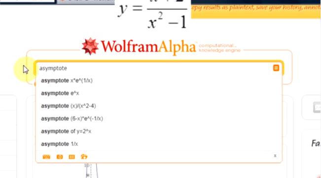 Pochodne i badanie przebiegu zmienności w WolframAlpha