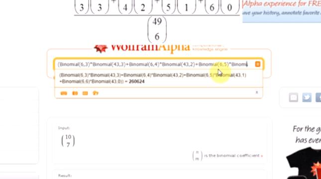 Prawdopodobieństwo w WolframAlpha