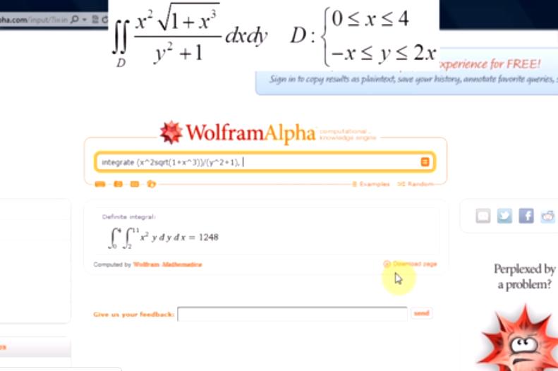 Całki wielokrotne i teoria pola w WolframAlpha