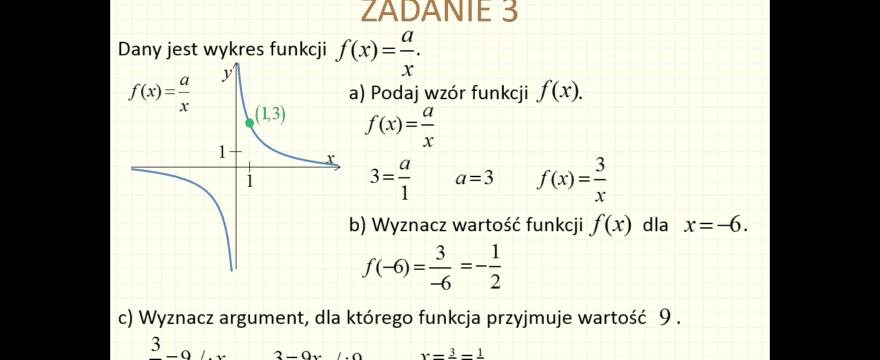 Lekcja 5P – Funkcja wymierna i wykładnicza