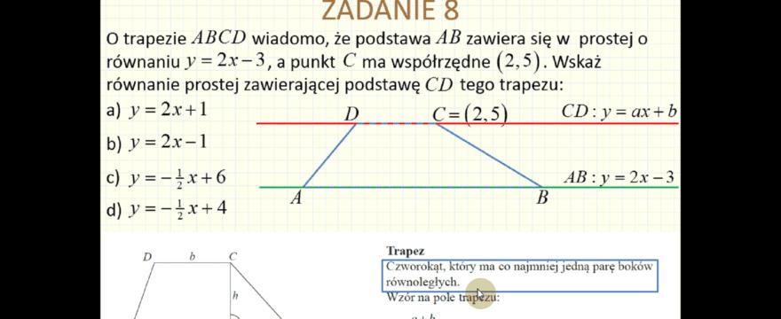 Lekcja 8 – Geometria analityczna