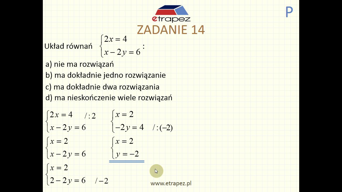 Lekcja 3 – Równania i nierówności