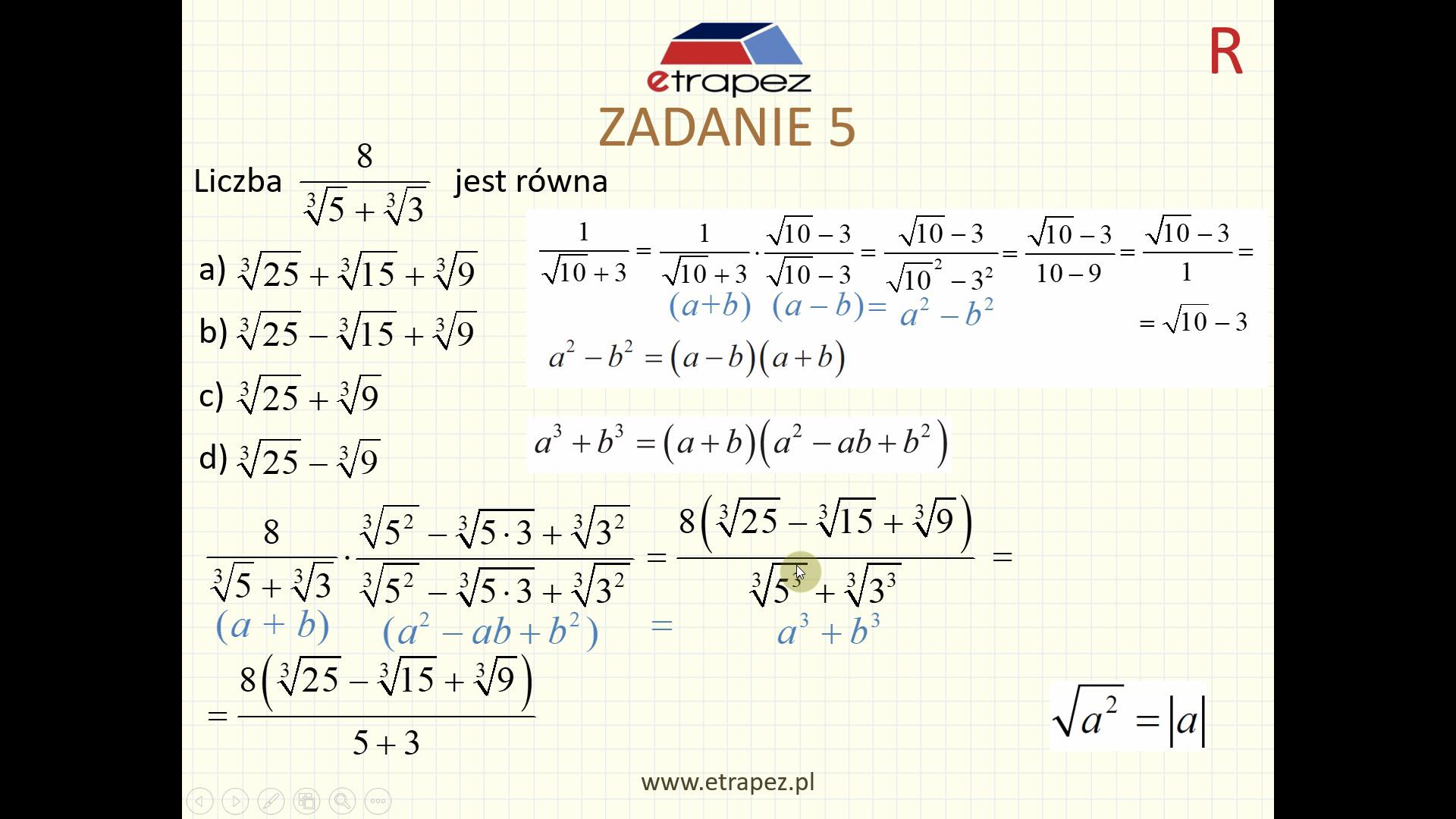 Lekcja 1 – Liczby rzeczywiste
