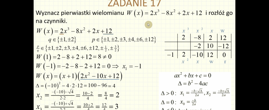 Lekcja 2 – Wyrażenia algebraiczne