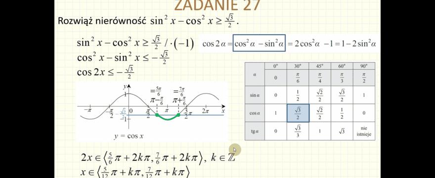 Lekcja 8 – Trygonometria