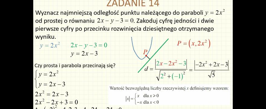 Lekcja 10 – Geometria analityczna
